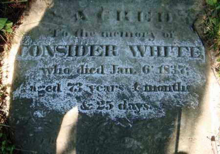 WHITE (RW), CONSIDER - Washington County, New York | CONSIDER WHITE (RW) - New York Gravestone Photos