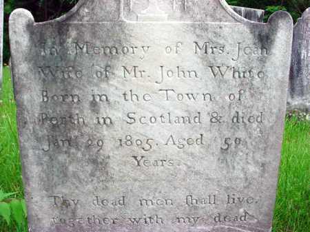 WHITE, JEAN - Washington County, New York | JEAN WHITE - New York Gravestone Photos
