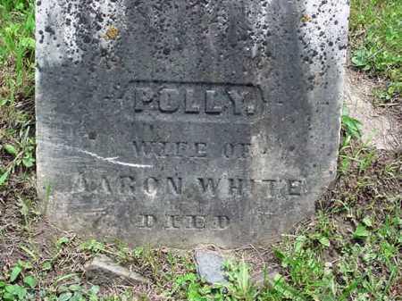 WHITE, POLLY - Washington County, New York | POLLY WHITE - New York Gravestone Photos