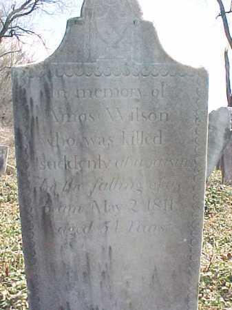 WILSON, AMOS - Washington County, New York | AMOS WILSON - New York Gravestone Photos