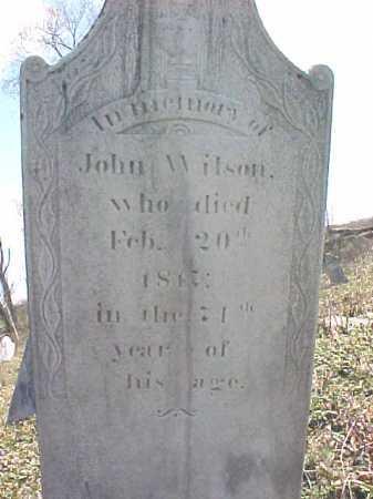 WILSON, JOHN - Washington County, New York | JOHN WILSON - New York Gravestone Photos