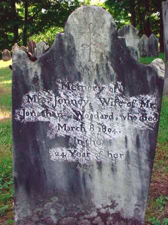 WOODARD, JENNEY - Washington County, New York | JENNEY WOODARD - New York Gravestone Photos