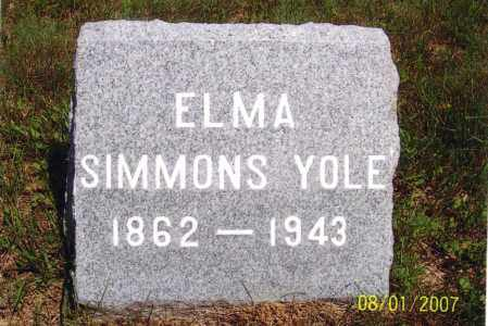 SIMMONS, ELMA A - Washington County, New York | ELMA A SIMMONS - New York Gravestone Photos