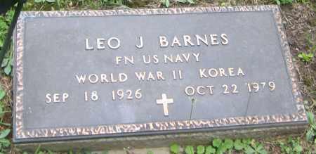 BARNES, LEO J - Wyoming County, New York   LEO J BARNES - New York Gravestone Photos