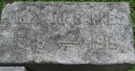 BARNES, MARY ANN - Wyoming County, New York   MARY ANN BARNES - New York Gravestone Photos