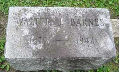 BARNES, WALTER J. - Wyoming County, New York | WALTER J. BARNES - New York Gravestone Photos