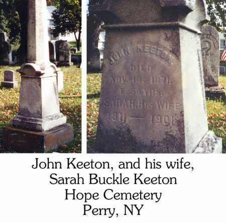 KEETON, JOHN - Wyoming County, New York | JOHN KEETON - New York Gravestone Photos