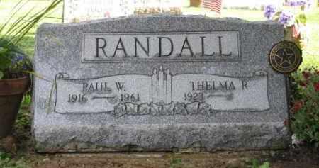 RANDALL, PAUL - Wyoming County, New York | PAUL RANDALL - New York Gravestone Photos