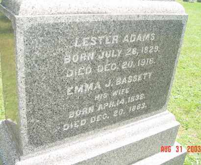 ADAMS, LESTER - Yates County, New York | LESTER ADAMS - New York Gravestone Photos