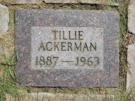ACKERMAN, TILLIE Z. - Baker County, Oregon | TILLIE Z. ACKERMAN - Oregon Gravestone Photos