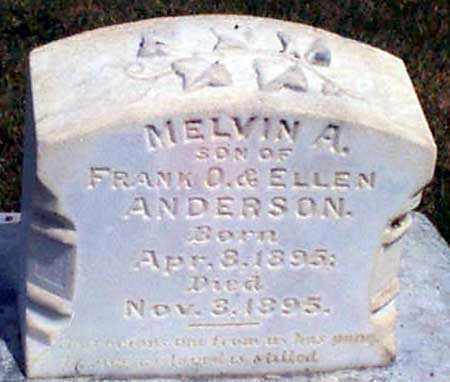 ANDERSON, MELVIN A. - Baker County, Oregon | MELVIN A. ANDERSON - Oregon Gravestone Photos