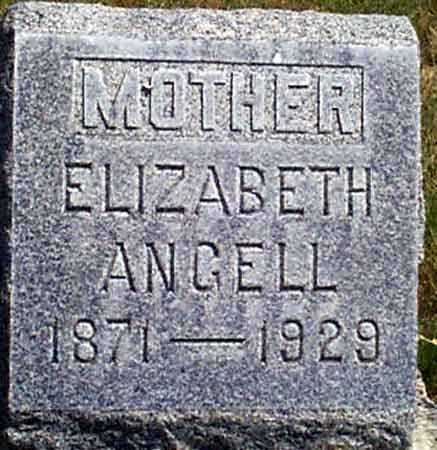 ANGELL, ELIZABETH - Baker County, Oregon | ELIZABETH ANGELL - Oregon Gravestone Photos