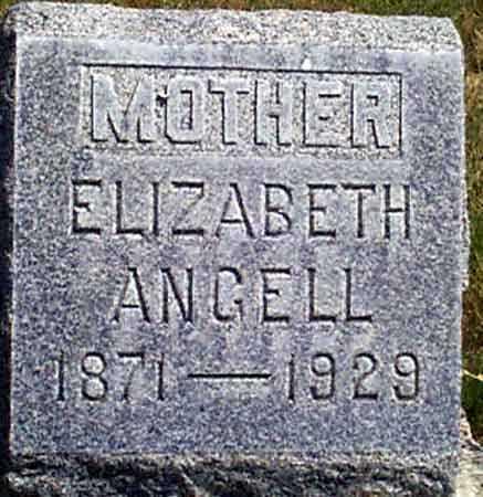 BARNES ANGELL, ELIZABETH - Baker County, Oregon | ELIZABETH BARNES ANGELL - Oregon Gravestone Photos