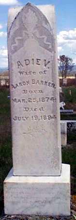 BARKER, ADIE V. - Baker County, Oregon | ADIE V. BARKER - Oregon Gravestone Photos