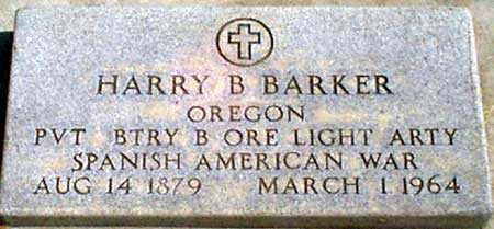BARKER (SA), HARRY B. - Baker County, Oregon | HARRY B. BARKER (SA) - Oregon Gravestone Photos