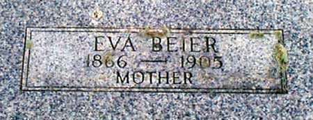 BEIER, EVA - Baker County, Oregon   EVA BEIER - Oregon Gravestone Photos