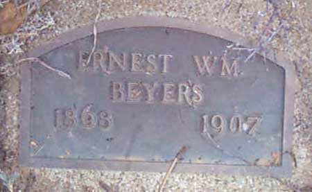 BEYERS, ERNEST WILLIAM - Baker County, Oregon | ERNEST WILLIAM BEYERS - Oregon Gravestone Photos