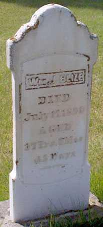BLIZE, WILLIAM JOHN - Baker County, Oregon | WILLIAM JOHN BLIZE - Oregon Gravestone Photos