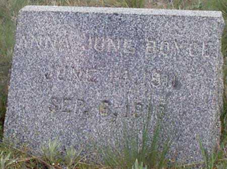BOYCE, ANNA JUNE - Baker County, Oregon | ANNA JUNE BOYCE - Oregon Gravestone Photos