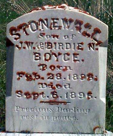 BOYCE, STONEWALL - Baker County, Oregon   STONEWALL BOYCE - Oregon Gravestone Photos
