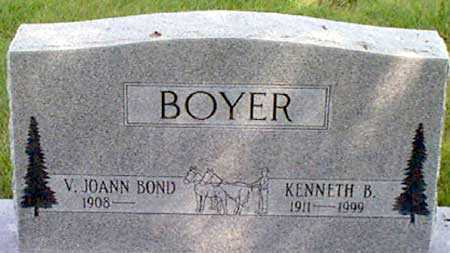 BOND BOYER, V. JOANN - Baker County, Oregon | V. JOANN BOND BOYER - Oregon Gravestone Photos