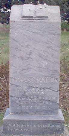 BOYER, THOMAS FRANKLIN - Baker County, Oregon | THOMAS FRANKLIN BOYER - Oregon Gravestone Photos