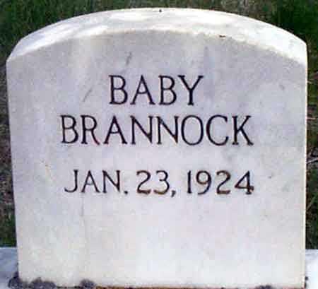 BRANNOCK, BABY - Baker County, Oregon | BABY BRANNOCK - Oregon Gravestone Photos