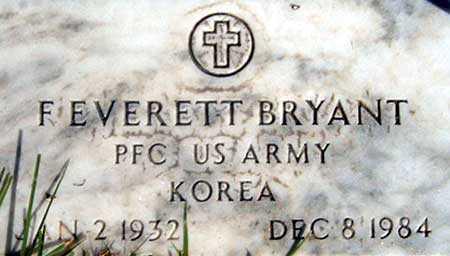 BRYANT (KOR), FLOYD EVERETT - Baker County, Oregon | FLOYD EVERETT BRYANT (KOR) - Oregon Gravestone Photos