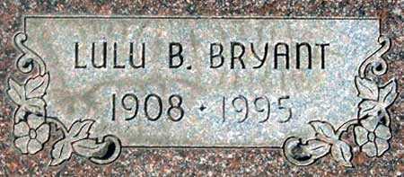 BRYANT, LULU BEATRICE - Baker County, Oregon | LULU BEATRICE BRYANT - Oregon Gravestone Photos