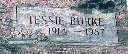 BURKE, TESSIE - Baker County, Oregon | TESSIE BURKE - Oregon Gravestone Photos