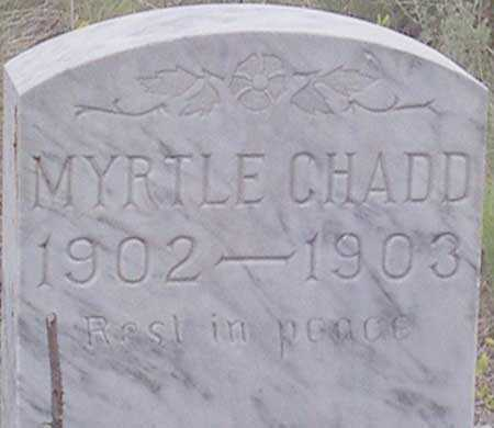 CHADD, MYRTLE - Baker County, Oregon | MYRTLE CHADD - Oregon Gravestone Photos