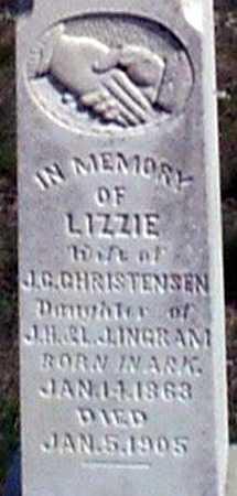 INGRAM CHRISTENSEN, ELIZABETH (LIZZIE) - Baker County, Oregon | ELIZABETH (LIZZIE) INGRAM CHRISTENSEN - Oregon Gravestone Photos