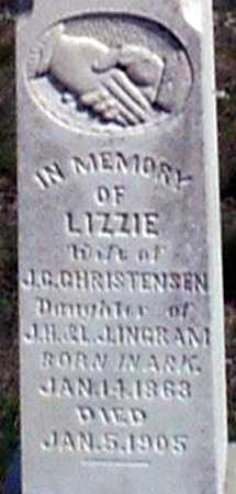 CHRISTENSEN, ELIZABETH (LIZZIE) - Baker County, Oregon | ELIZABETH (LIZZIE) CHRISTENSEN - Oregon Gravestone Photos