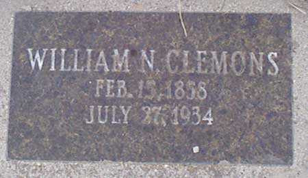CLEMONS, WILLIAM NELSON - Baker County, Oregon | WILLIAM NELSON CLEMONS - Oregon Gravestone Photos