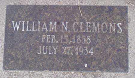CLEMONS, WILLIAM NELSON - Baker County, Oregon | WILLIAM NELSON CLEMONS - Oregon Gravestone Photos