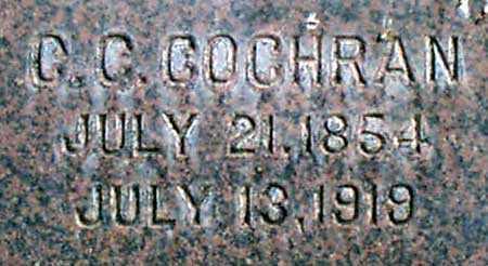 COCHRAN, CHRISTOPHER COLUMBUS - Baker County, Oregon   CHRISTOPHER COLUMBUS COCHRAN - Oregon Gravestone Photos