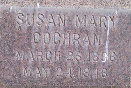 COCHRAN, SUSAN MARY - Baker County, Oregon | SUSAN MARY COCHRAN - Oregon Gravestone Photos