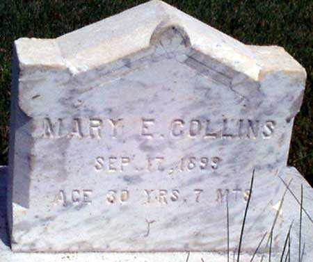 COLLINS, MARY E. - Baker County, Oregon   MARY E. COLLINS - Oregon Gravestone Photos