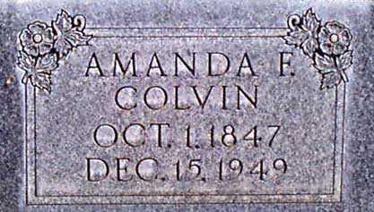 COLVIN, AMANDA FRANCIS - Baker County, Oregon | AMANDA FRANCIS COLVIN - Oregon Gravestone Photos