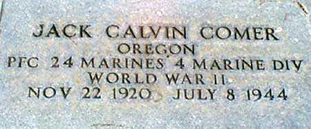 COMER, JACK CALVIN - Baker County, Oregon | JACK CALVIN COMER - Oregon Gravestone Photos