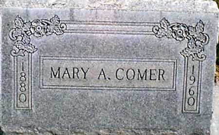 COMER, MARY A. - Baker County, Oregon | MARY A. COMER - Oregon Gravestone Photos