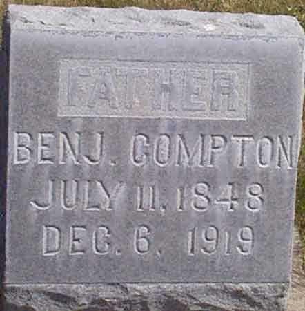 COMPTON, BENJAMIN - Baker County, Oregon | BENJAMIN COMPTON - Oregon Gravestone Photos