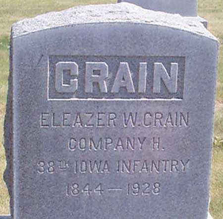 CRAIN (CW), ELEAZER W. - Baker County, Oregon | ELEAZER W. CRAIN (CW) - Oregon Gravestone Photos