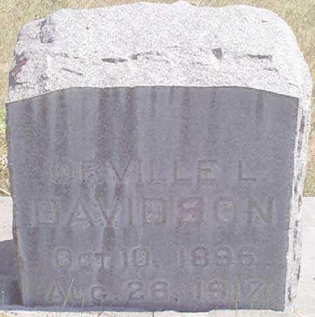 DAVIDSON, ORVILLE LEWIS - Baker County, Oregon   ORVILLE LEWIS DAVIDSON - Oregon Gravestone Photos