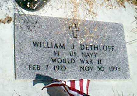 DETHLOFF (WWII), WILLIAM J. - Baker County, Oregon   WILLIAM J. DETHLOFF (WWII) - Oregon Gravestone Photos
