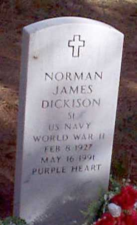 DICKISON (WWII), NORMAN JAMES - Baker County, Oregon | NORMAN JAMES DICKISON (WWII) - Oregon Gravestone Photos