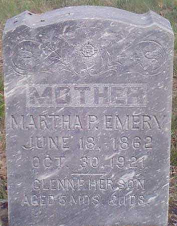 MCQUOWEN EMERY, MARTHA PLATTE - Baker County, Oregon | MARTHA PLATTE MCQUOWEN EMERY - Oregon Gravestone Photos