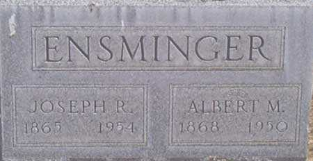 ENSMINGER, JOSEPH RICE - Baker County, Oregon | JOSEPH RICE ENSMINGER - Oregon Gravestone Photos