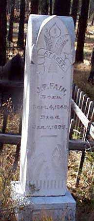 FAIN, J. P. - Baker County, Oregon | J. P. FAIN - Oregon Gravestone Photos