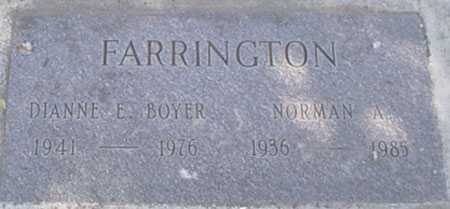 BOYER FARRINGTON, DIANNE E. - Baker County, Oregon | DIANNE E. BOYER FARRINGTON - Oregon Gravestone Photos